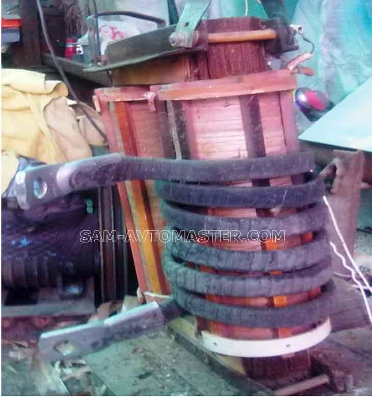 Намотал шины на трансформатор