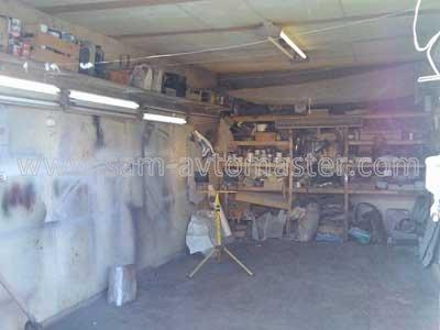 Готовим помещение (гараж) для безпылевой покраски.